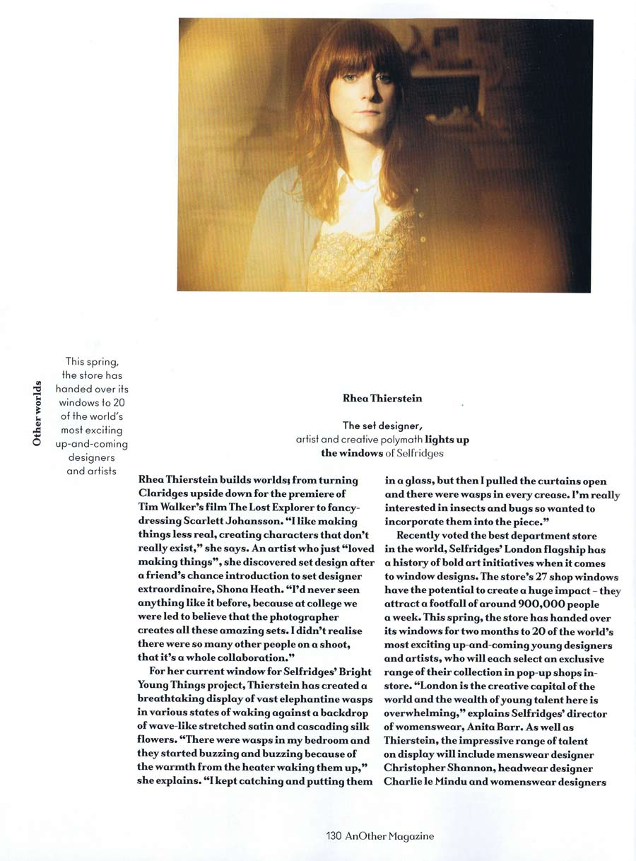 Another Magazine Feature Interview