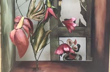 Bergdorf Goodman Painted Velvet Window