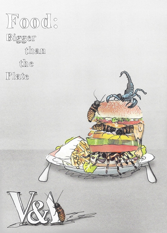 V&A FOOD: Bigger than the plate Exhibition poster