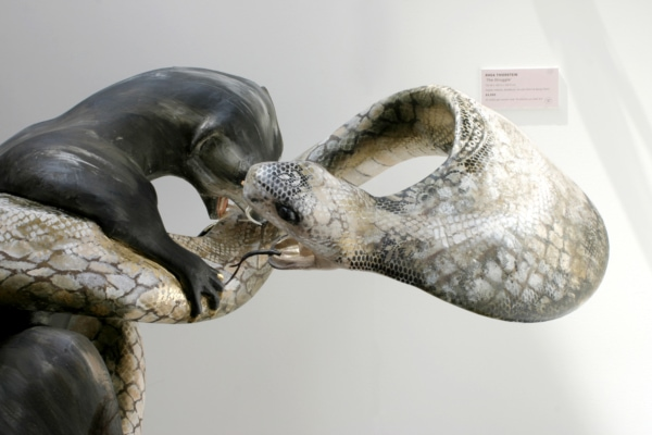 Mongoose and Cobra Venom Sculpture