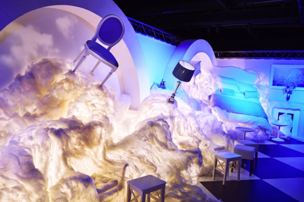 The House of Peroni AW'15 Cloud Bedroom Installation
