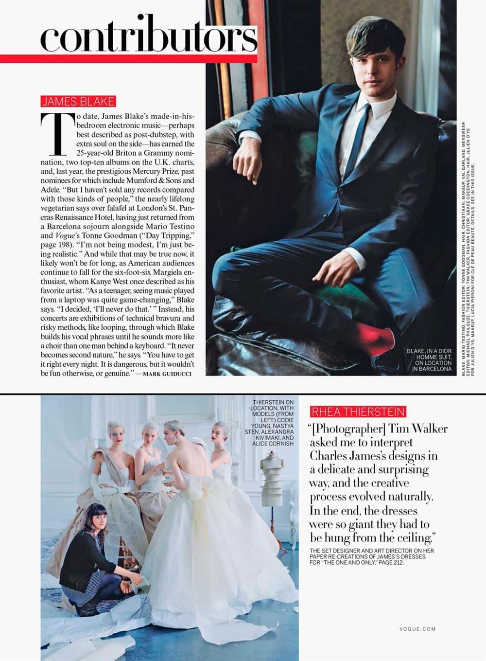 U.S. Vogue Contributor Tim Walker Grace Coddington