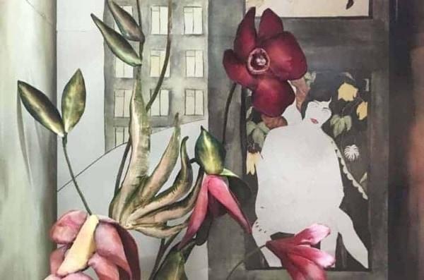 Painted Velvet Bergdorf Goodman Window