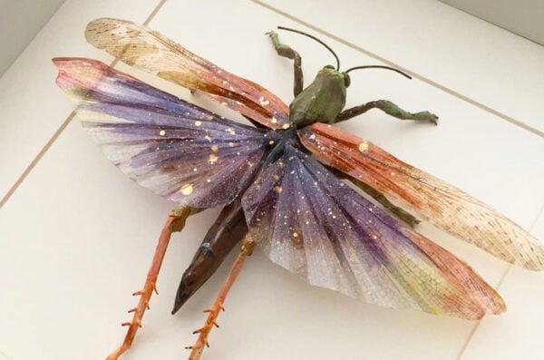 Vegan Taxidermy Grasshopper